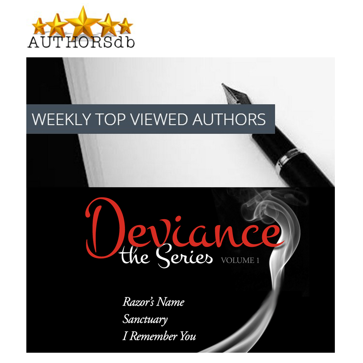 Deviance the Series, Volume 1: Top Ten Author at AUTHORSdb