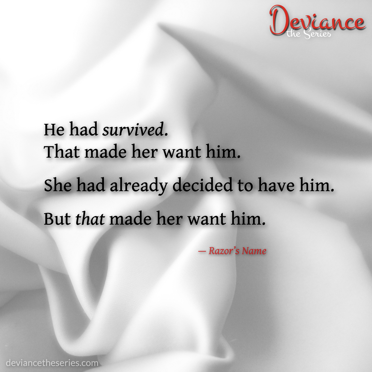 Deviance the Series, Volume 1: Razor's Name